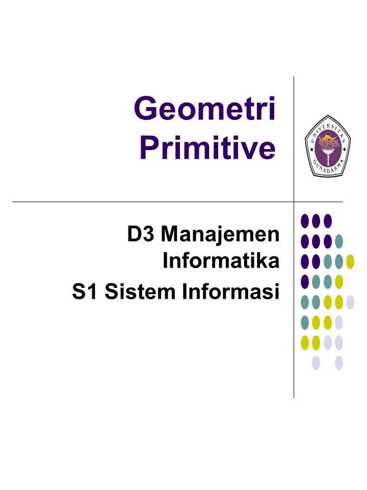 Geometri Primitive D3 Manajemen Informatika S1 Sistem Informasi