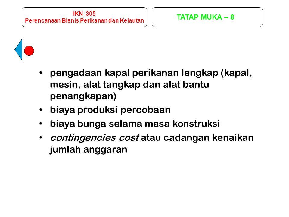 IKN 305 Perencanaan Bisnis Perikanan dan Kelautan TATAP MUKA – 9 2.