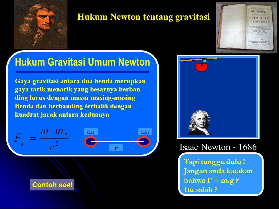 Indikator : 1. 2.1 Menyatakan hukum Newton tentang gravitasi 1. 2.2 Menganalisis gaya gravitasi yang berhubungan dengan gaya antar dua partikel bermas