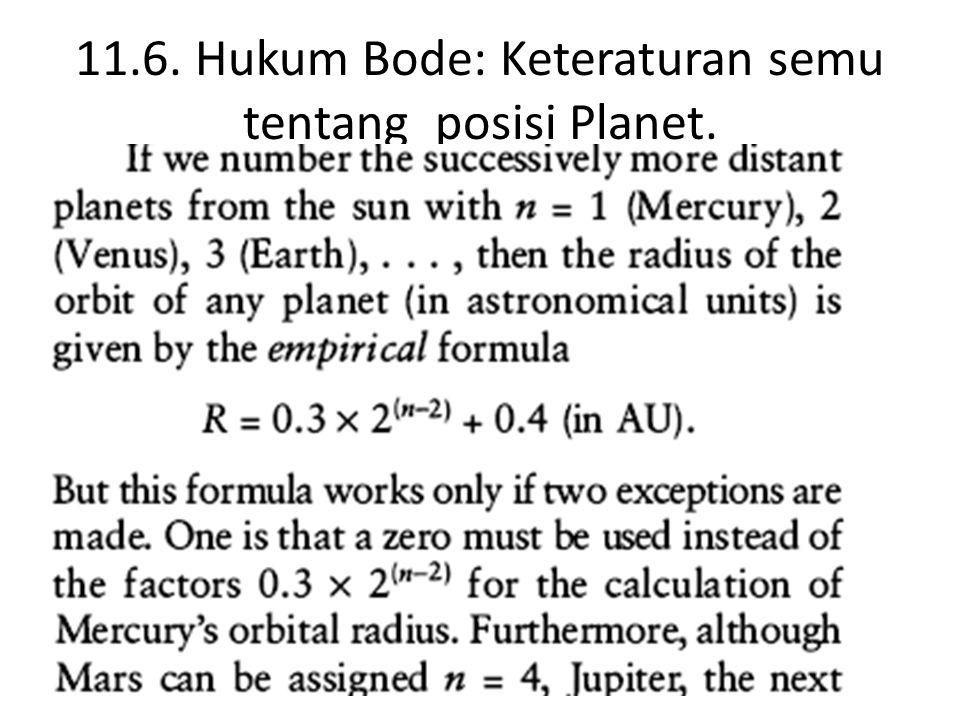 11.6. Hukum Bode: Keteraturan semu tentang posisi Planet.