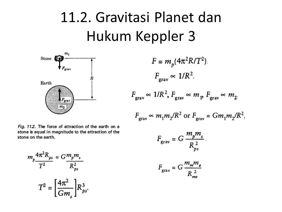 11.3. Eksperimen Cavendish  Tetapan Gravitasi Universal G = 6,67384 x 10 -11 N (m/kg) 2