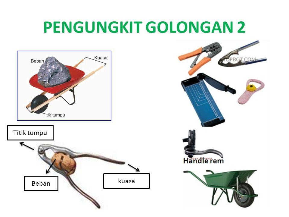 PENGUNGKIT GOLONGAN 3 Titik tumpu