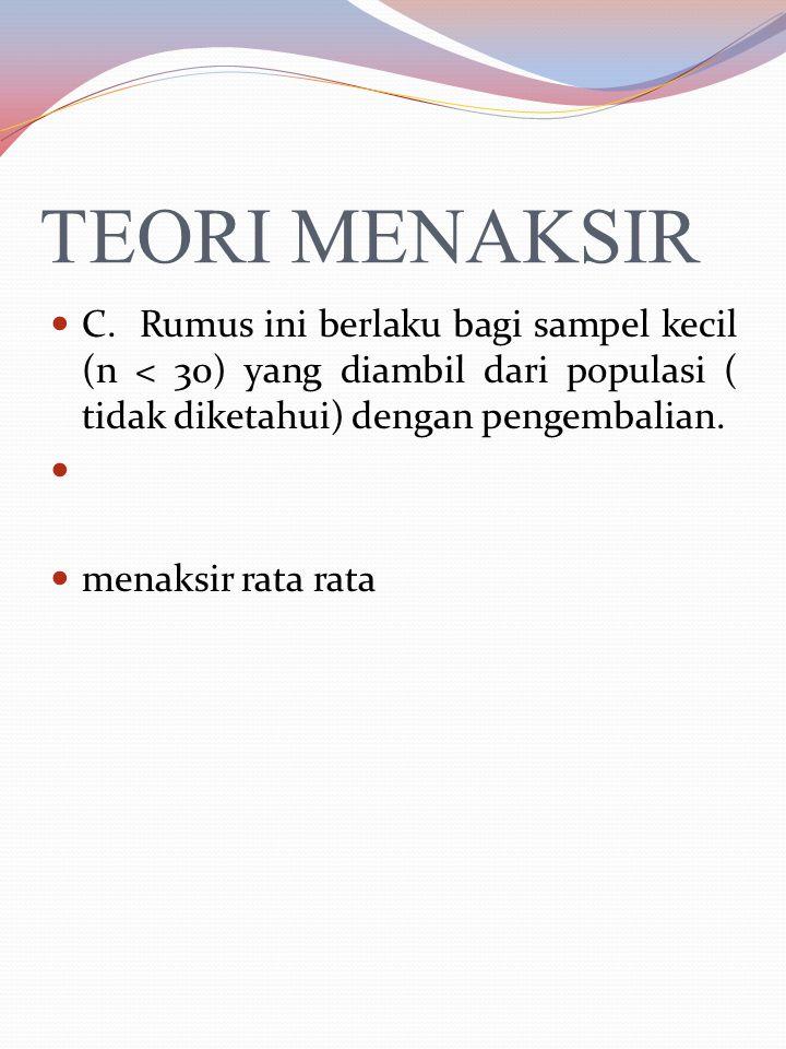 TEORI MENAKSIR B.