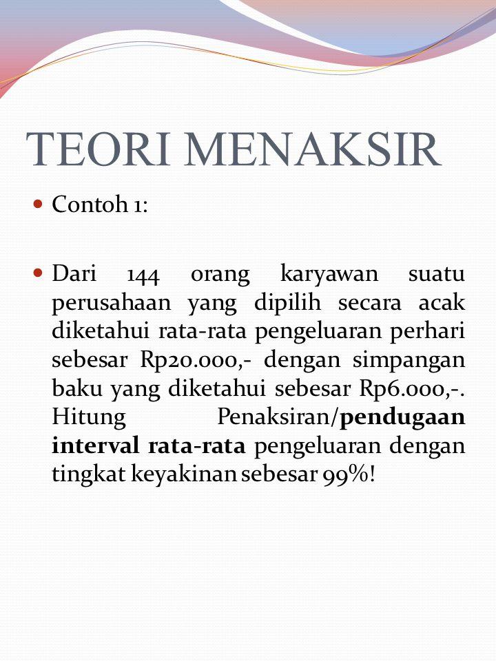 TEORI MENAKSIR C.