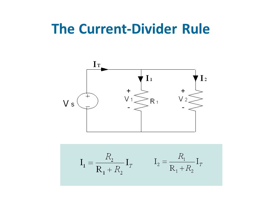 The Voltage-Divider Rule
