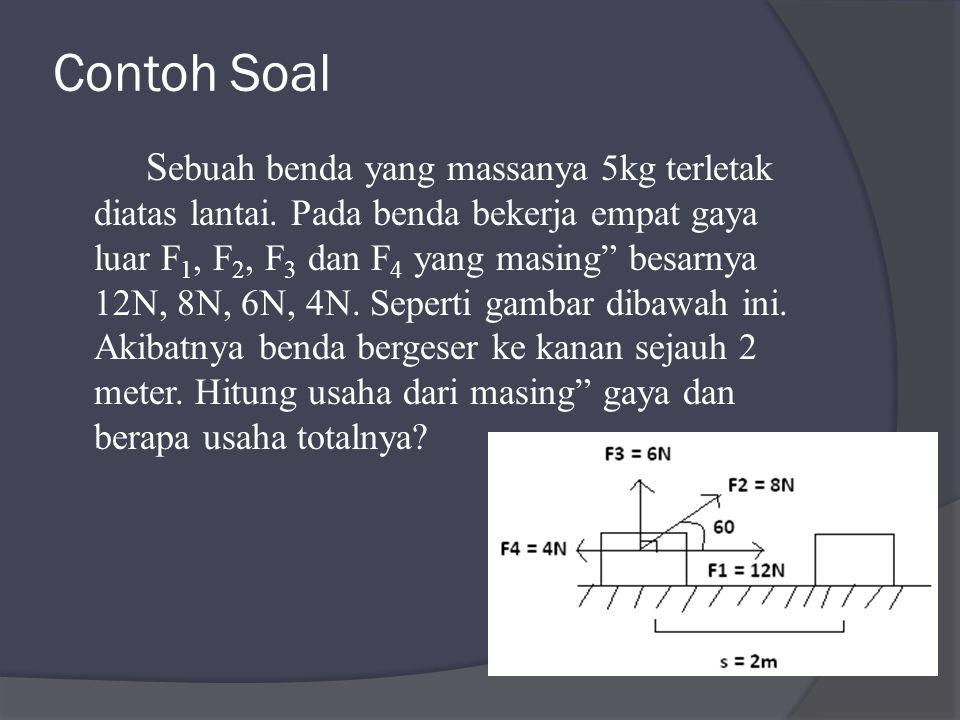 Contoh Soal S ebuah benda yang massanya 5kg terletak diatas lantai.
