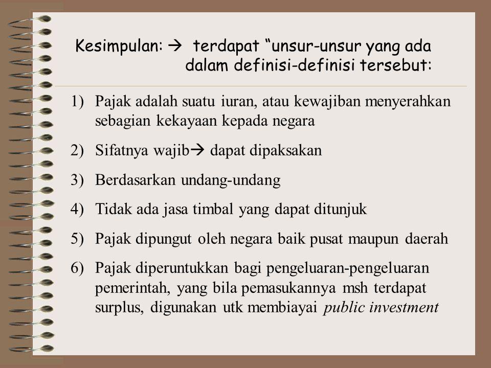 Timbulnya Utang Pajak 1)Menurut Ajaran Materiil → ajaran ini konsisten dg penerapan self assesment system  Jika ada sesuatu yang menyebabkan, seperti: a.