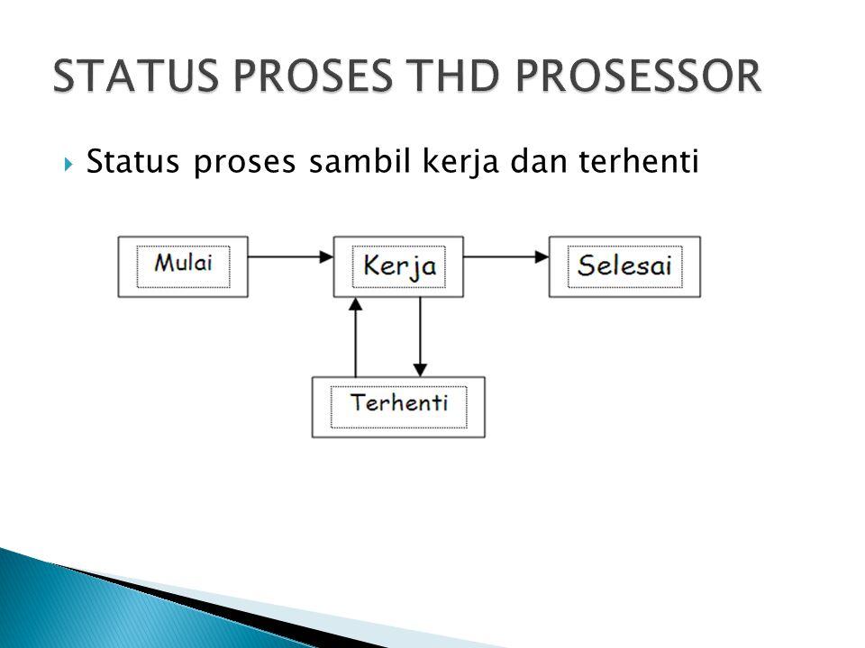  Status proses sambil kerja dan terhenti