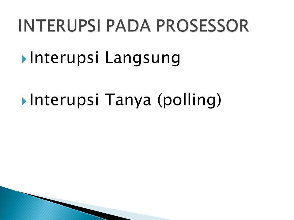  Interupsi Langsung  Interupsi Tanya (polling)