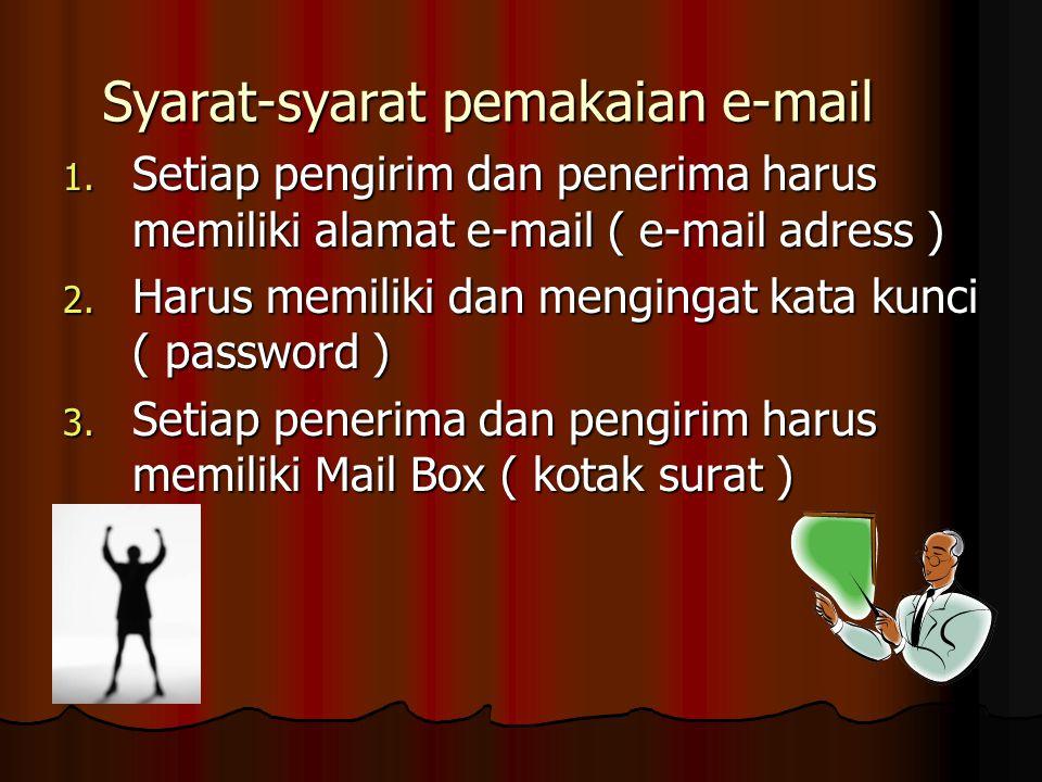 Syarat-syarat pemakaian e-mail 1.