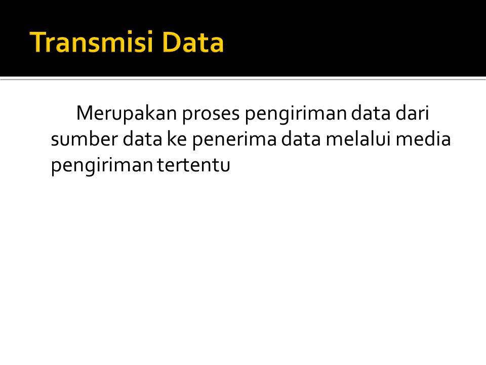 Merupakan proses pengiriman data dari sumber data ke penerima data melalui media pengiriman tertentu