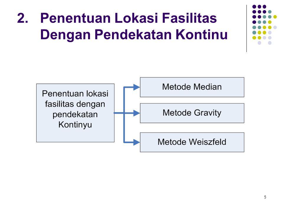 5 2. Penentuan Lokasi Fasilitas Dengan Pendekatan Kontinu