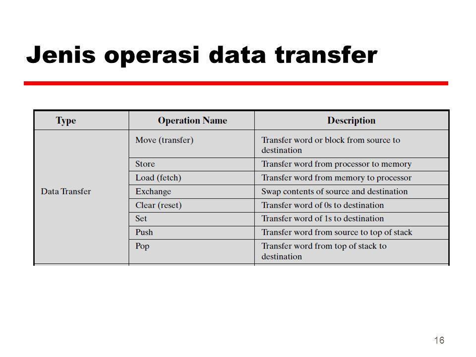 Jenis operasi data transfer 16