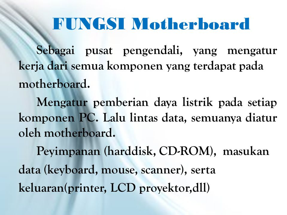 contoh mainboard Click to Home 
