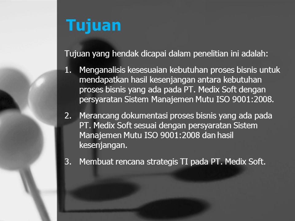 Saran Penelitian dapat dikembangkan dengan mengikutsertakan bagian keuangan dalam penerapan Sistem Manajemen Mutu ISO 9001:2008.