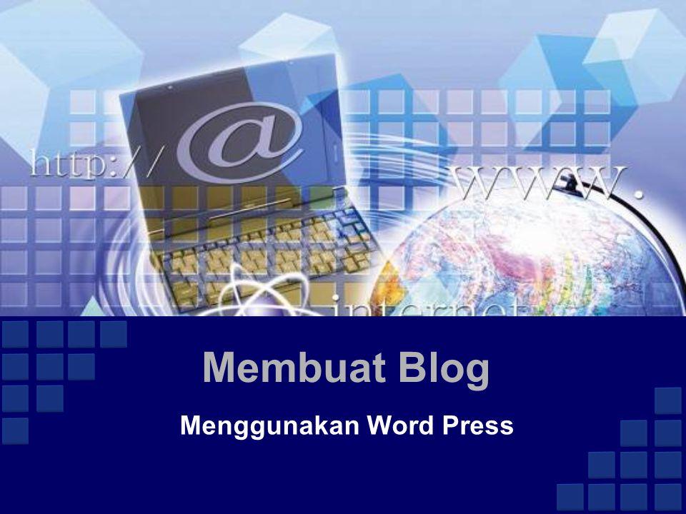 Membuat Blog Menggunakan Word Press