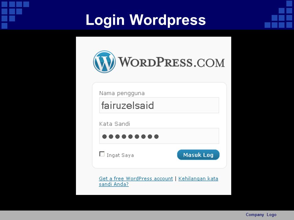 Login Wordpress Company Logo