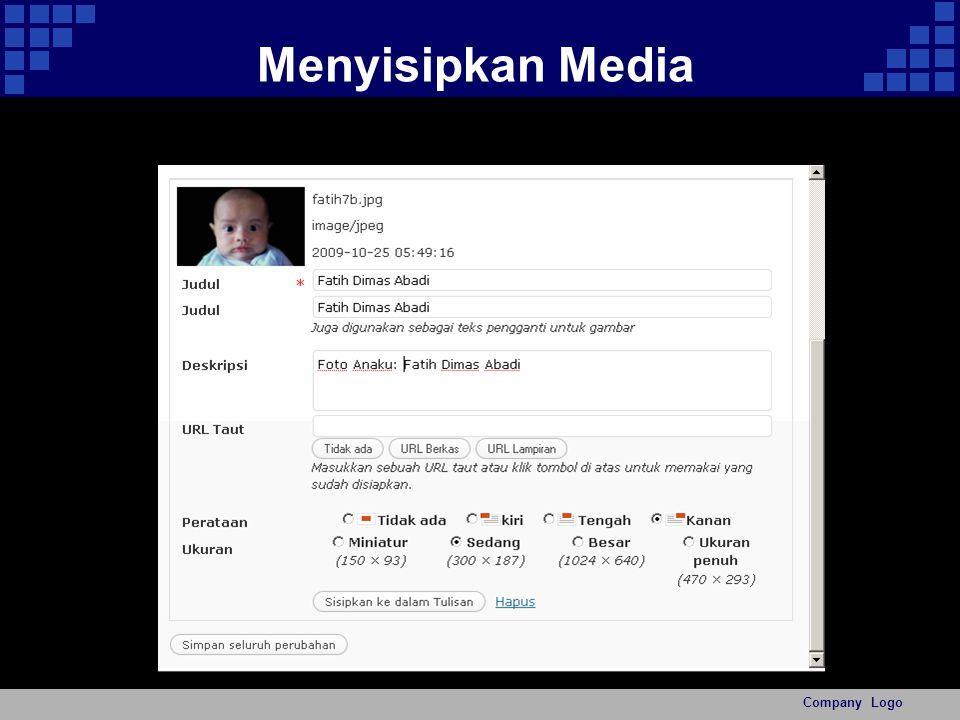 Menyisipkan Media Company Logo