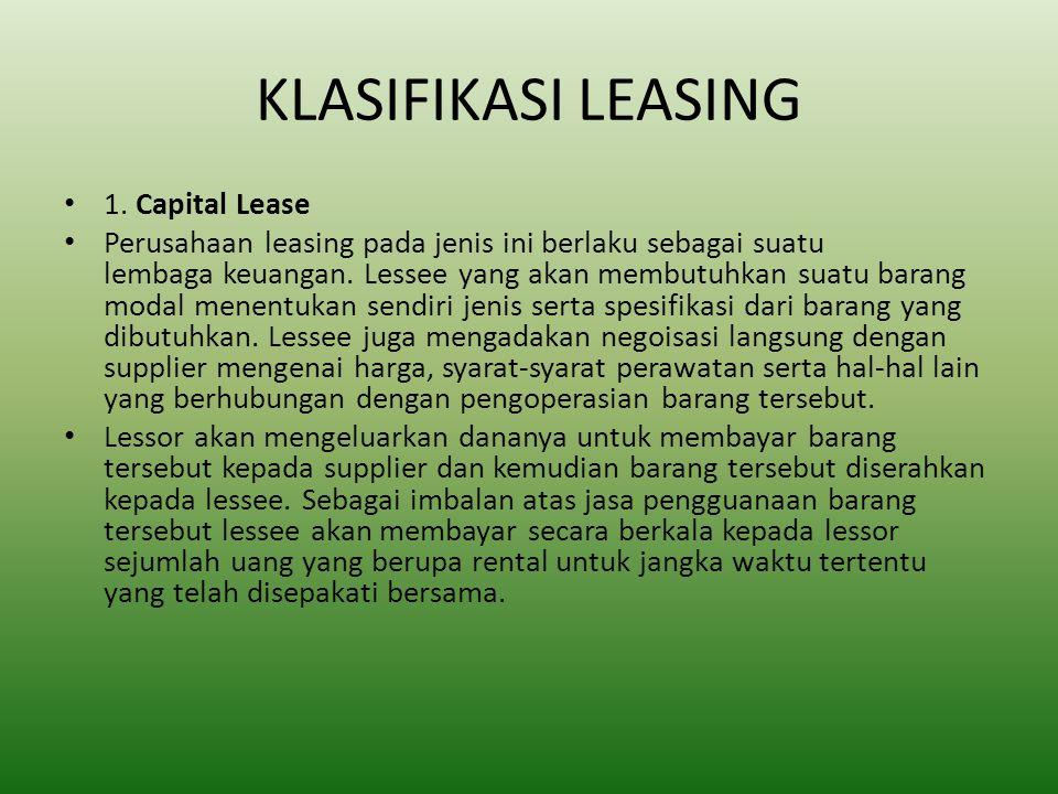 KLASIFIKASI LEASING 1.