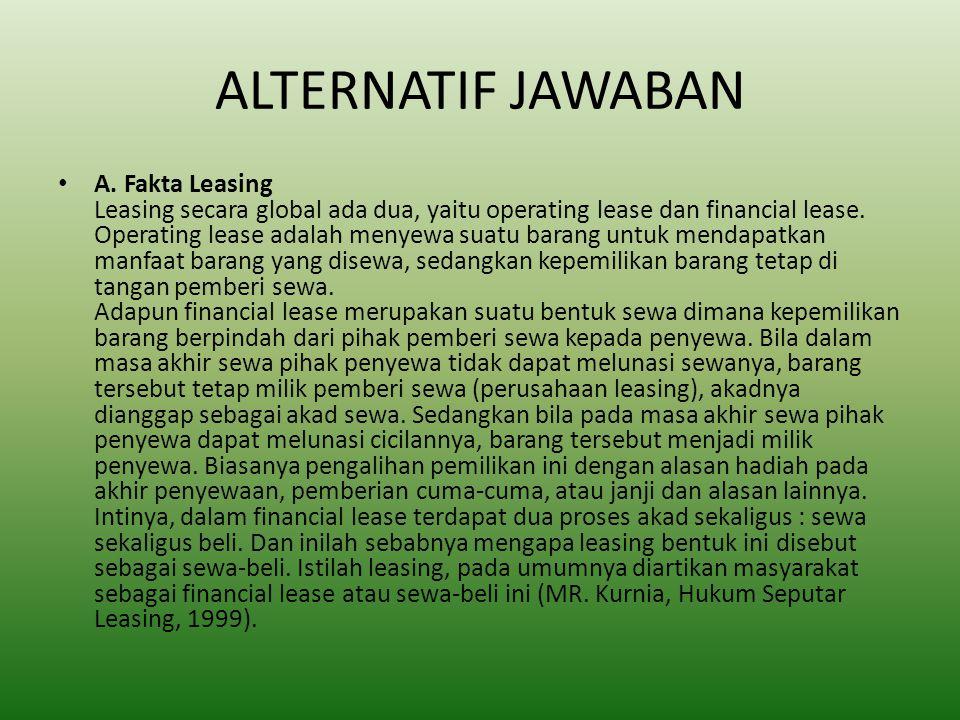 ALTERNATIF JAWABAN A.