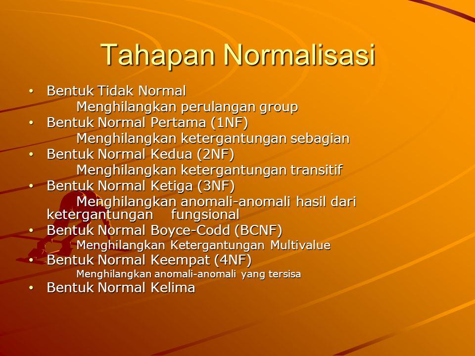 29 Dependency Preservation Dependency preservation (dapat di Indonesia-kan sebagai Pemeliharaan Ketergantungan) merupakan kriteria yang harus dicapai untuk mendapatkan tabel dan basis data yang baik.