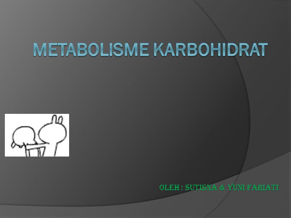KARBOHIDRAT  Senyawa paling besar jmlh nya di permukaan bumi  Karbohidrat yg ada dlm diet sebagian besar adalah polimer heksosa, diantaranya yg paling penting adalah glukosa, galaktosa dan fruktosa  Dlm darah vena perifer kadar normal glukosa plasma saat puasa : 70 – 110 mg/dL (3,9 – 6,1 mmol/L)  Dlm darah arteri kadar glukosa plasma : 15 – 30 mg/dL lebih tinggi drpd dlm darah vena