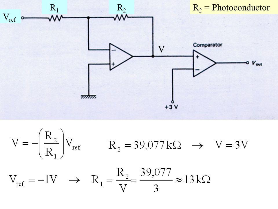 V R1R1 R2R2 V ref R 2 = Photoconductor