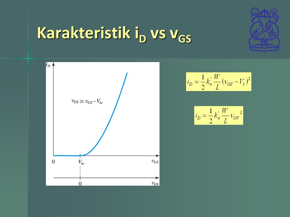 Karakteristik i D vs v GS