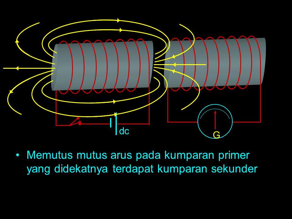 AC Mengalirkan arus listrik bolak balik pada kumparan primer yang di dekatnya terdapat kumparan sekunder.