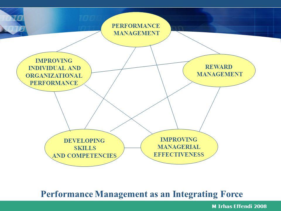 M Irhas Effendi 2008 MUNCULNYA PERFORMANCE MANAGEMENT Hadirnya HRM sebagai pendekatan strategis dalam mengelola dan mengembangkan bawahan Pentingnya p