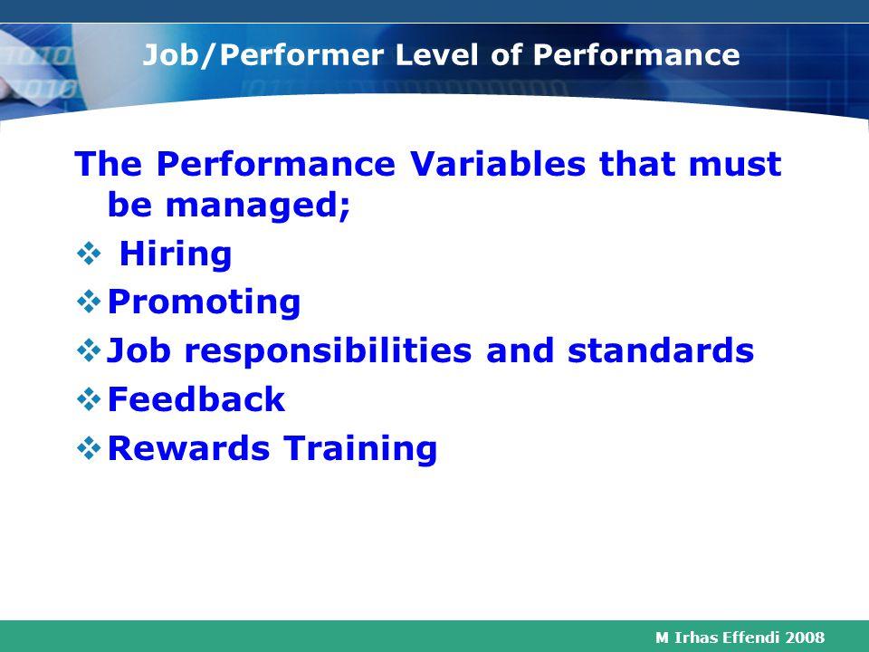 M Irhas Effendi 2008 Process Level of Performance Process 1 Process 2 Function A Function B Function C Share- holders Market $ Products/ Service