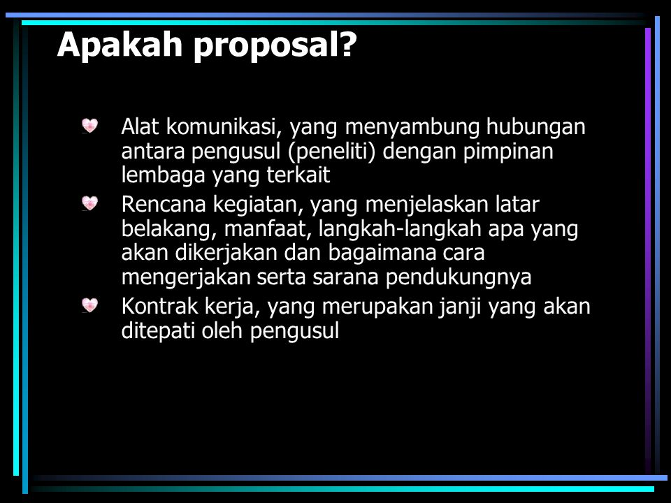 Apakah proposal.
