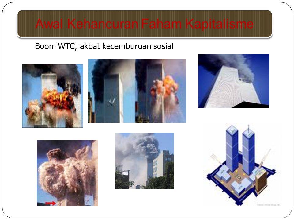 Boom WTC, akbat kecemburuan sosial