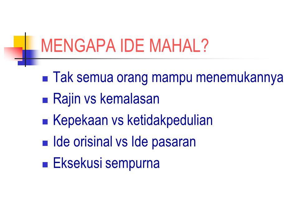 MENGAPA IDE MAHAL.