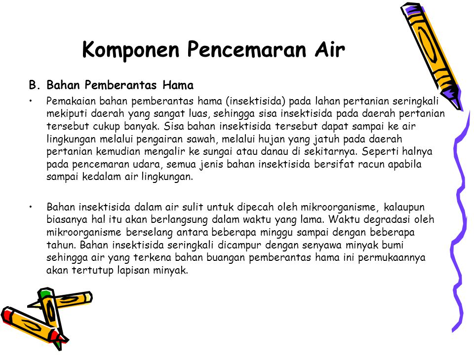 Komponen Pencemaran Air B.