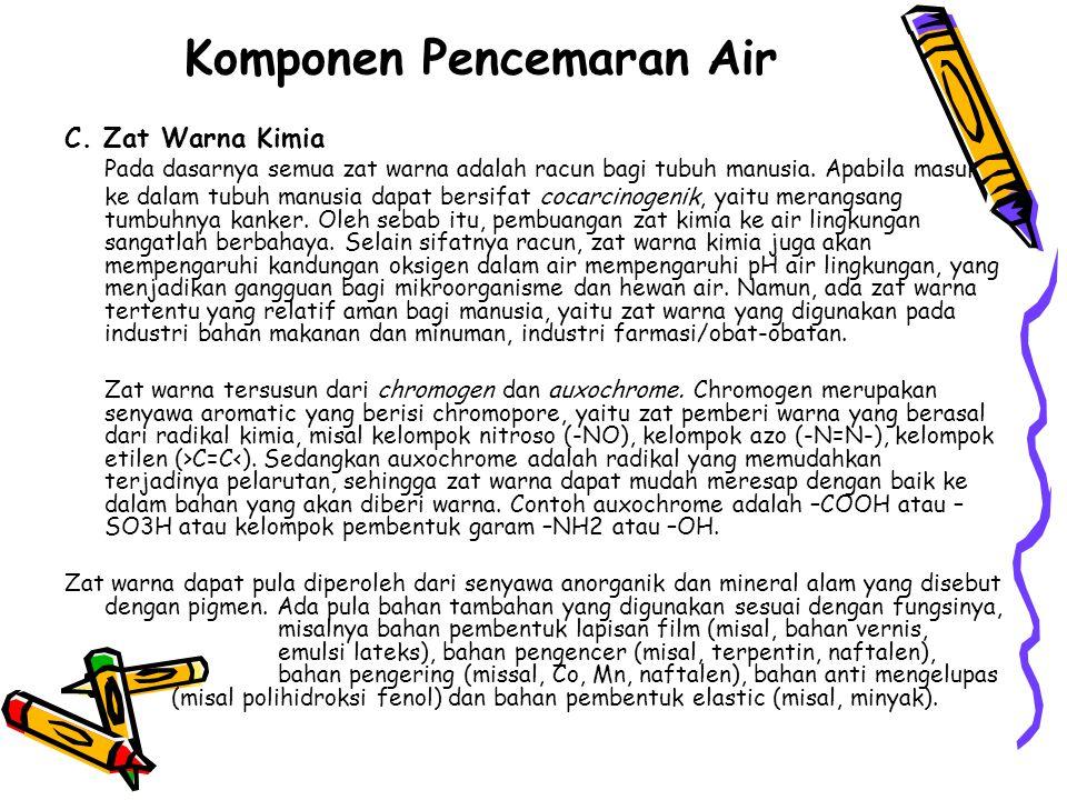 Komponen Pencemaran Air C.