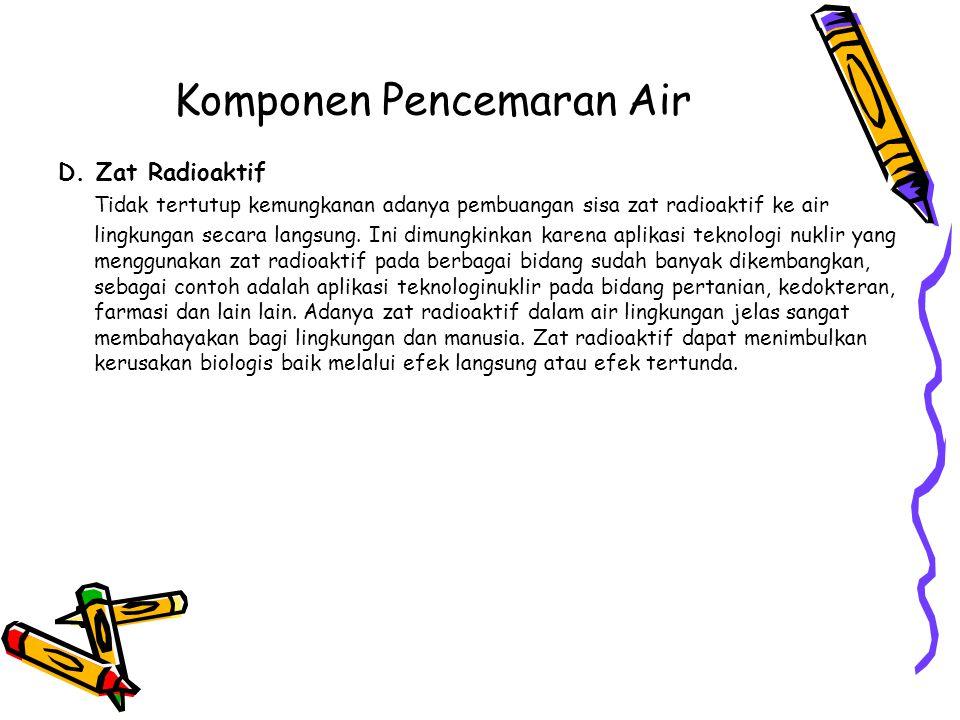 Komponen Pencemaran Air D.