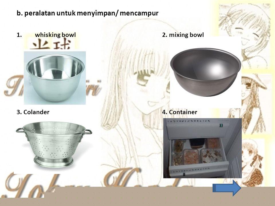 1.Peralatan listrik dan gas a. Egg boiler b. Toaster c. Deep freyer