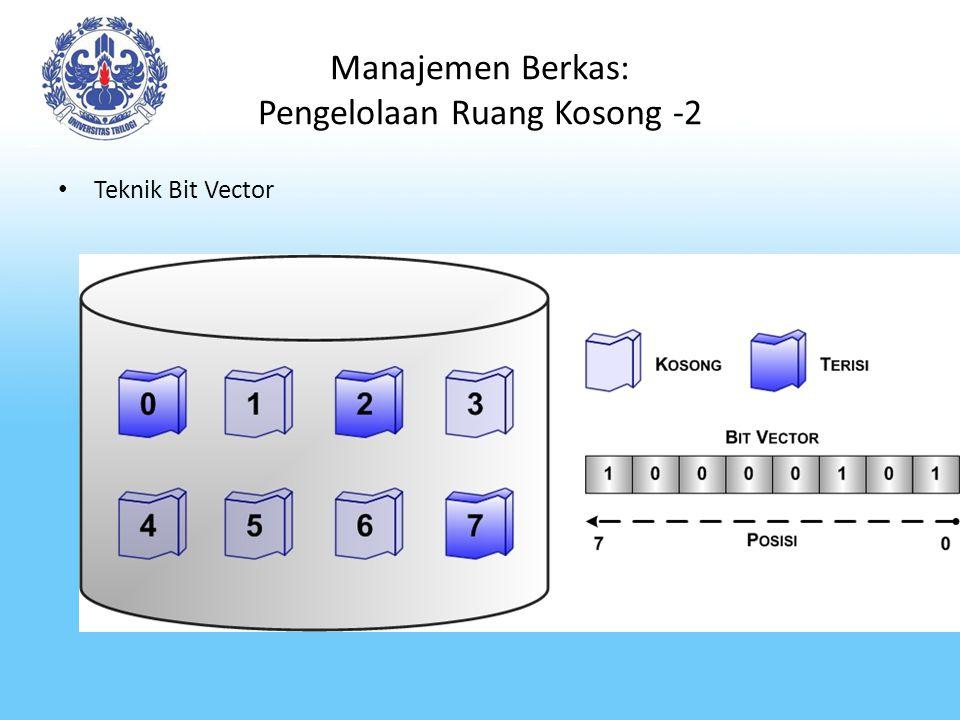 Manajemen Berkas: Pengelolaan Ruang Kosong -2 Teknik Bit Vector