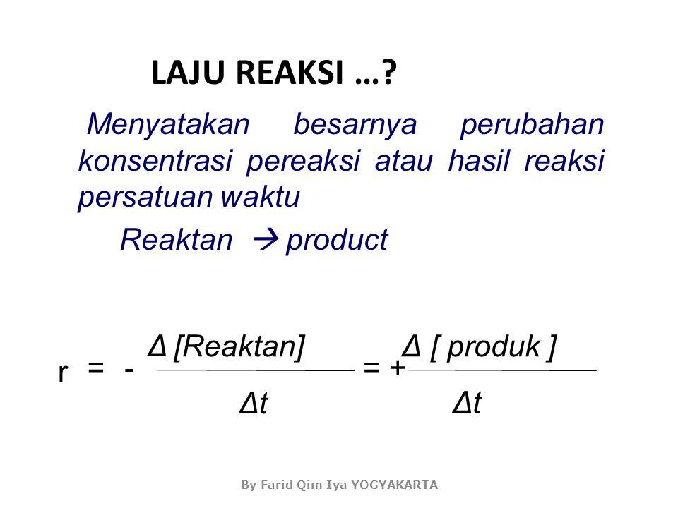 Dekomposisi Reaksi N 2 O 5 Hasil ekperimen Laju produksi O 2 berkurang 2N 2 O 5 (g) 2N 2 O 4 (g) + O 2 (g) By Farid Qim Iya YOGYAKARTA