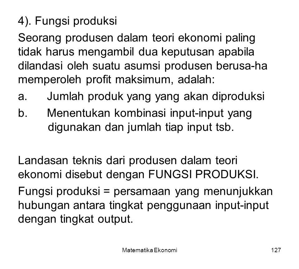 Matematika Ekonomi127 4).