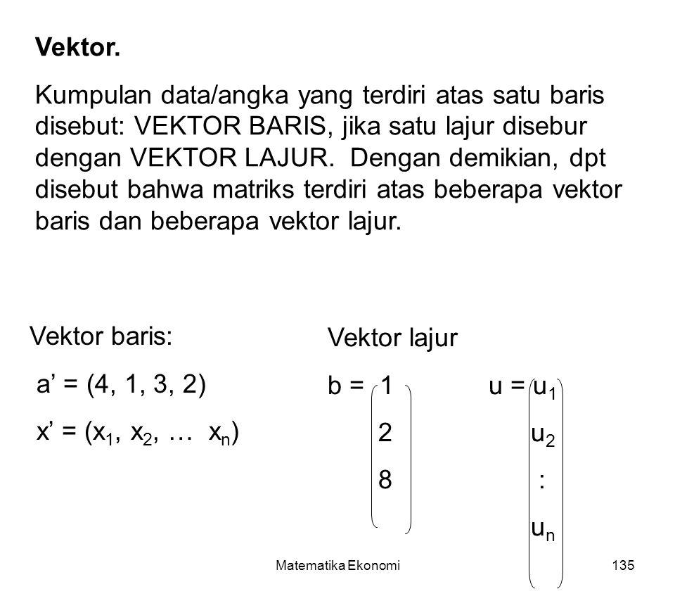 Matematika Ekonomi135 Vektor.