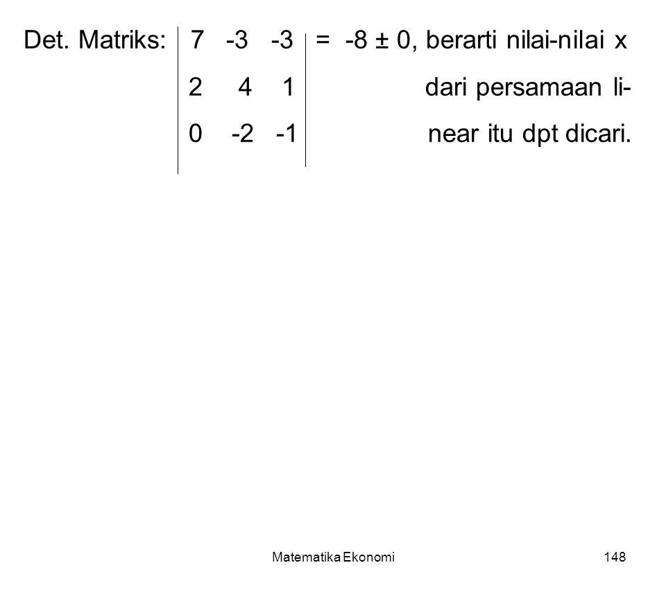 Matematika Ekonomi148 Det.