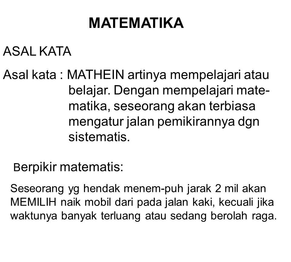 Matematika Ekonomi67 Latihan