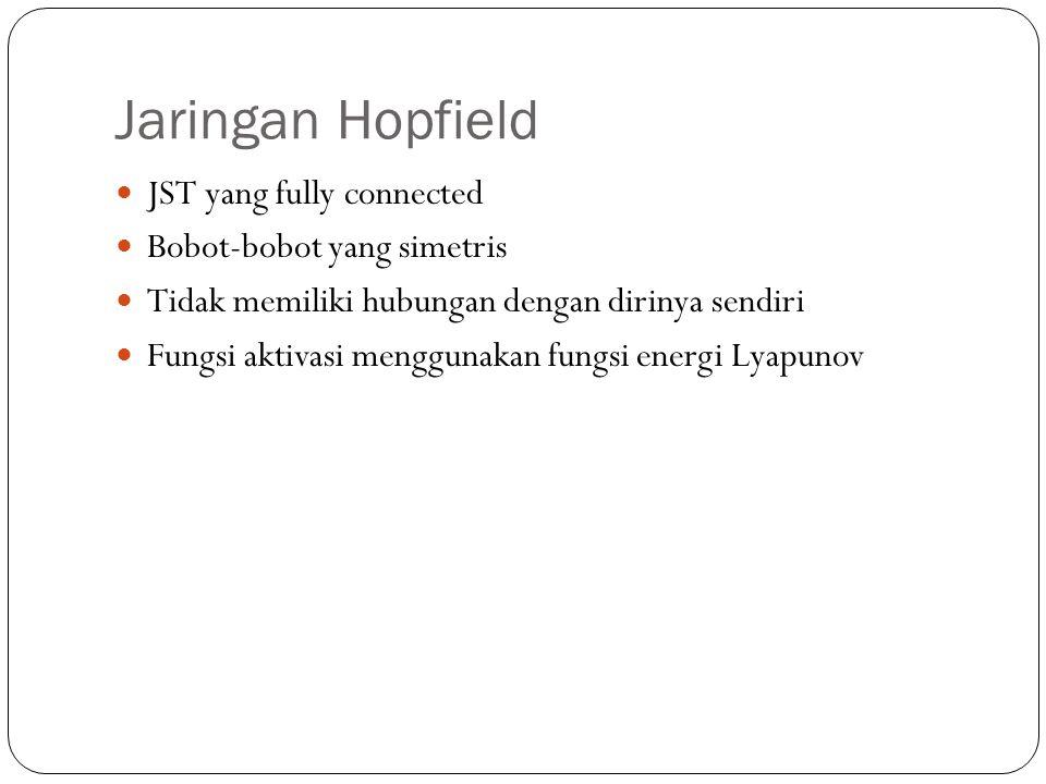 Jaringan Hopfield