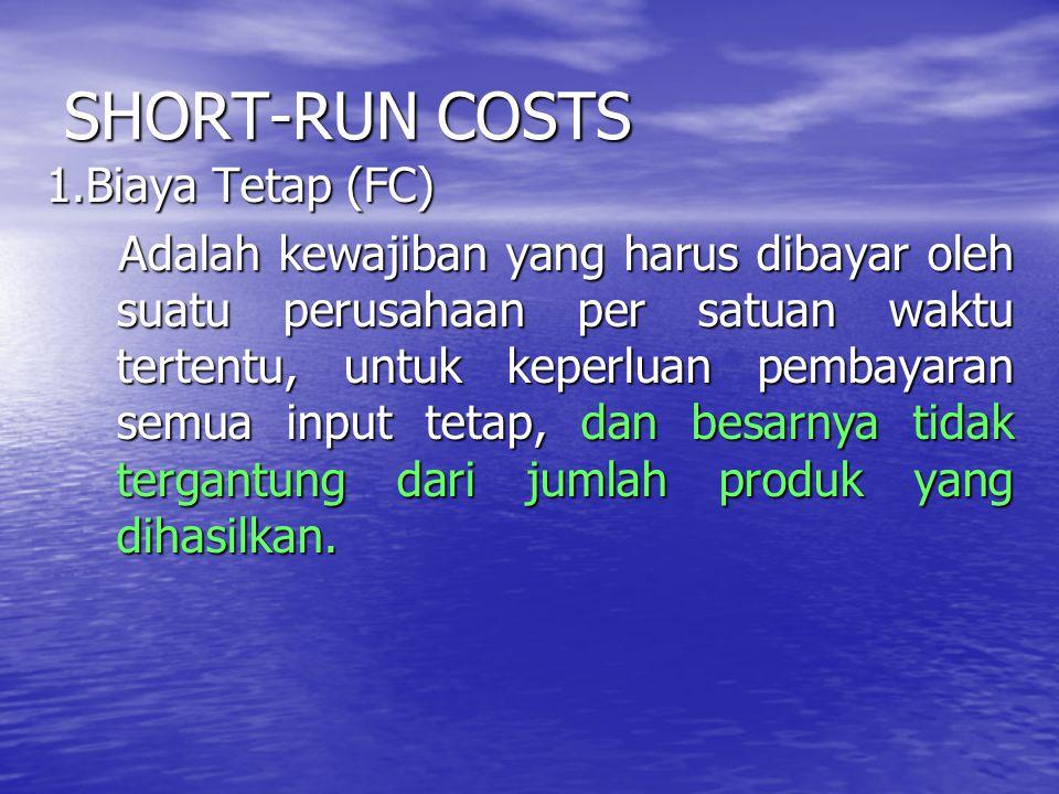 SHORT-RUN COSTS 2.