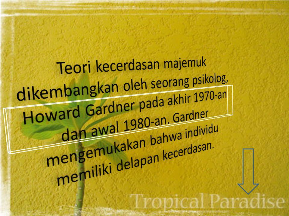 KECERDASAN MAJEMUK (Multiple Intelligent) Nama : Siswi Anggani (120111409953) Brigita Dewanti (120111409929)