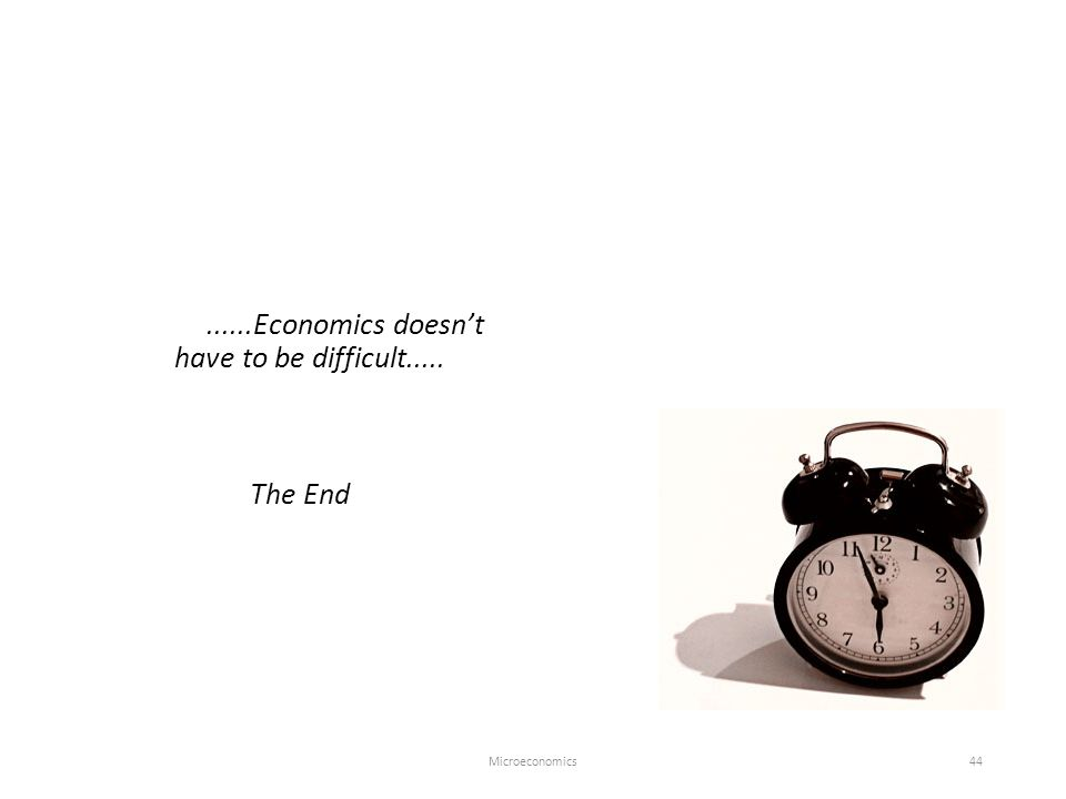 Microeconomics44......Economics doesn't have to be difficult..... The End