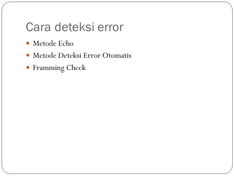 Cara deteksi error Metode Echo Metode Deteksi Error Otomatis Framming Check
