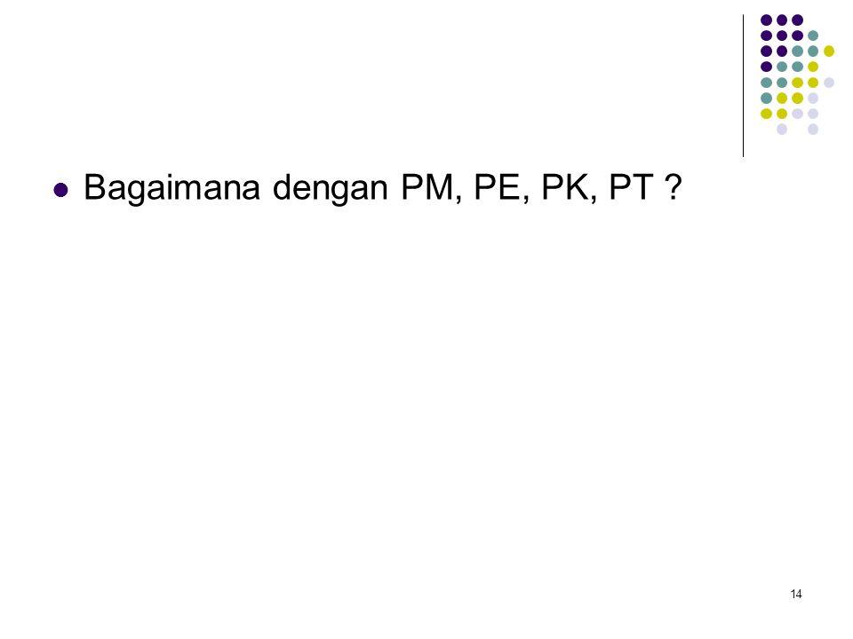 14 Bagaimana dengan PM, PE, PK, PT ?